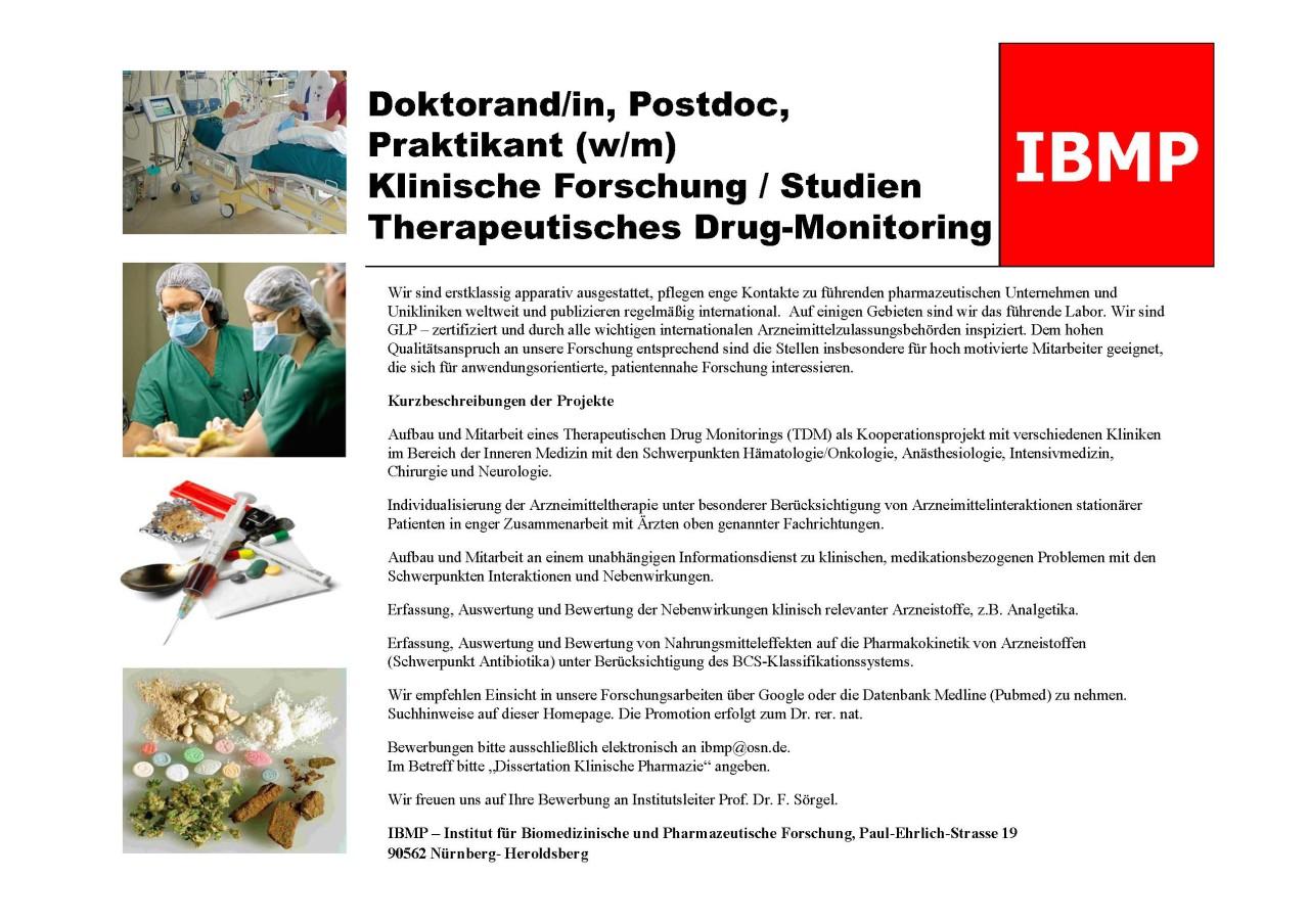 IBMP - Institut f. Biomedizinische u. Pharmazeutische Forschung ...